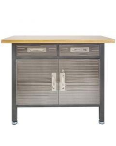 Munkaasztal 2 fiókkal és szekrénnyel (122x95x61cm)