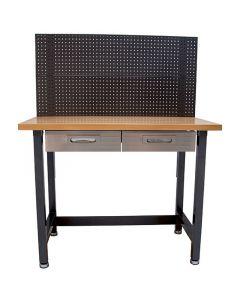 Munkaasztal lyukas hátfallal (62x122x156cm)