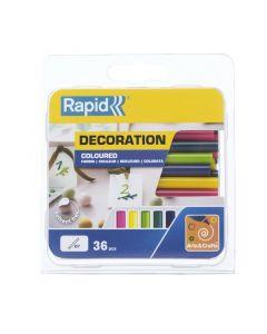 RAPID - ragasztórúd (7mm, 36db, színes)