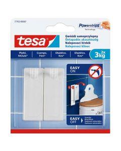 TESA SMART MOUNTING - akasztószög (3kg, öntapadó, 2db)