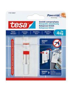 TESA SMART MOUNTING - akasztószög (4kg, állítható, öntapadó, 2db)