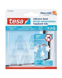 TESA SMART MOUNTING - akasztó (0,2kg, öntapadó, 5db)