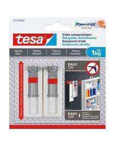 TESA SMART MOUNTING - akasztócsavar (1kg, állítható, öntapadó, 2db, érzékeny felületre)