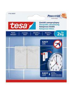 TESA SMART MOUNTING - akasztószög (2kg, öntapadó, 2db)