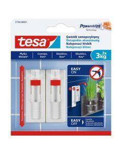 TESA SMART MOUNTING - akasztószög (3kg, öntapadó, állítható, 2db)