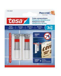 TESA SMART MOUTING - akasztócsavar (3kg, állítható, öntapadó, 2db)
