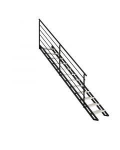 FONTANOT POP - egyenes lépcső (13 fokos, fekete-fehér nyír)