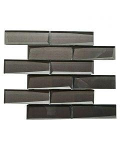 FLIESEN CRYSTAL XBH SW09 - mozaik (fekete, 30x30cm)