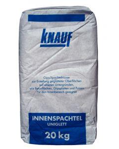 KNAUF UNIGLETT - gipszbázisú simító, glettelő habarcs (20kg)