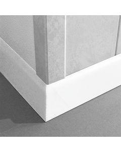 LOGOCLIC - lábazati léc (fehér, 2600x10x58mm)