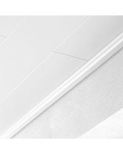 LOGOCLIC - záróléc (fehér, 2600x16x36mm)