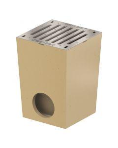 ACO SELF - udvari lefolyó horganyzott acél bordás ráccsal (polimerbeton, 25x25cm)