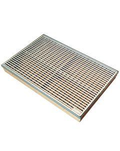 ACO SELF VARIO - lábtörlő tálca (polimerbeton, 75x50cm)