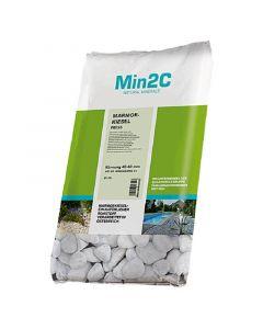 MIN2C - márvány díszkavics (fehér, 40-60mm, 25kg)