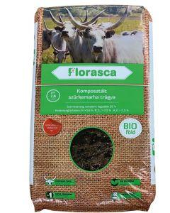FLORASCA - komposztált bio szürkemarhatrágya (40L)