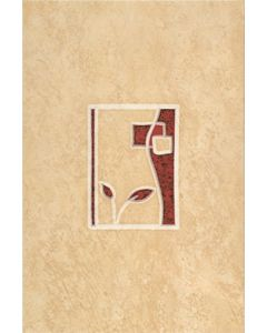 KAPRI - dekorcsempe (bézs/bordó, 20x30cm)
