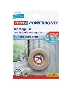 TESA POWERBOND - montázsszalag (kétoldalas, 1,5m, átlátszó)