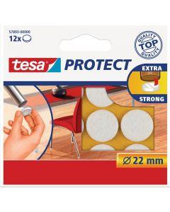 TESA PROTECT - filckorong (Ø22mm, fehér, 12db)