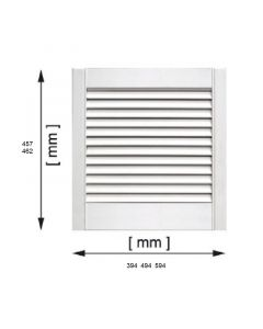 BÚTORAJTÓ - zárt lamellás 394x462mm (fehér)