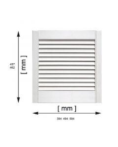 BÚTORAJTÓ - zárt lamellás 594x462mm (fehér)