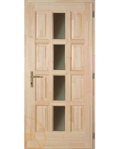 ÁMOR - fa bejárati ajtó 100x210 (középen-üveg-jobb)