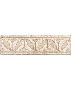 TRAVERTINO NINIVE - bordűr (bézs, 25x7cm)
