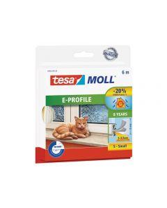 TESA MOLL - ajtó- és ablaktömítő szalag (E-profil, fehér, 6m:9mm)