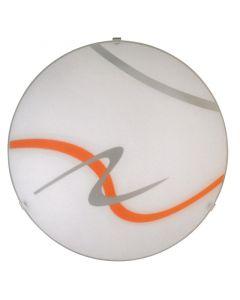 RÁBALUX SOLEY - mennyezeti lámpa (1xE27, Ø30, fehér-narancssárga)