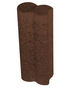 SEMMELROCK DUOFIX - szegélykő 9,4x6x25cm (barna)