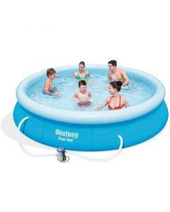 BESTWAY RODOSZ - puhafalú medence (Ø366x76cm, vízforgatóval)