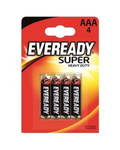 ENERGIZER EVEREADY SUPER HEAVY DUTY - szén-cink mikroelem (AAA/BL4, 1,5V, 4db)