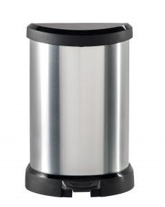 CURVER - pedálos szemetes (fekete-ezüst, 20L)