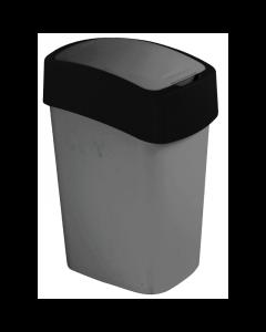 CURVER PACIFIC FLIP BIN - billenőfedeles szemetes (ezüst-fekete, 10L)