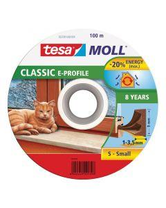 TESA MOLL - ajtó- és ablaktömítő szalag (E-profil, barna, 100m:9mm)