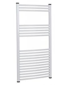 SANICA - íves törölközőszárító radiátor (1200x600mm) fehér