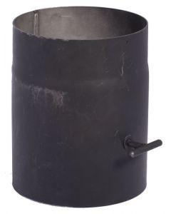 Füstcső - huzatszabályzóval (Ø120mm, 250mm)