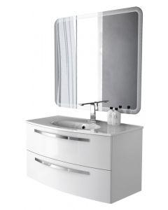 BADEN HAUS STELLA 100 - komplett mosdóhely (fehér)