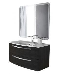 BADEN HAUS STELLA 100 - komplett mosdóhely (sötétszürke)