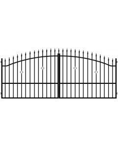 POLARGOS MONACO 2 - szárnyas kapu (350x150cm, fém)