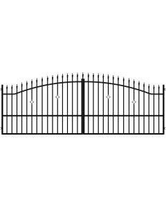 POLARGOS MONACO 2 - szárnyas kapu (400x150cm, fém)