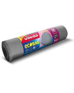 VILEDA - zárószalagos szemeteszsák (50L, szürke, 10db)