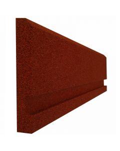 Gumiszegély (100x25x4cm, vörös)