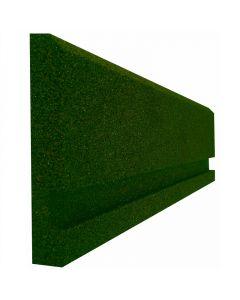 Gumiszegély (100x25x4cm, zöld)