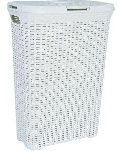 CURVER NATURAL STYLE - rattanhatású szennyestartó (krém, 40L)