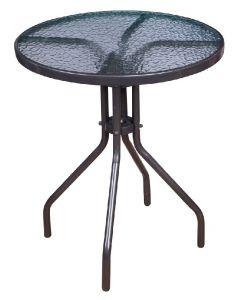 SUNFUN - bisztróasztal üveglappal (Ø60cm)