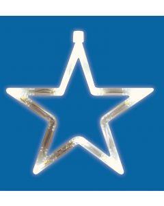 Beltéri ablakdísz (LED, csillag)