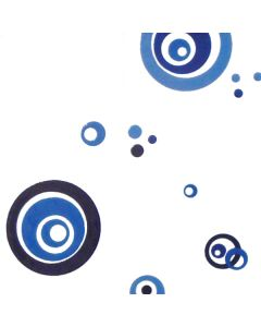 CREARREDA - csempedekor (kék körök, M, 26x30cm)