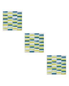 CREARREDA - csempedekor (mozaik, türkiz, 20x20cm)