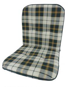 GARDEN SEAT CAPRI - alacsony támlás párna (96x47x5cm, zöld, kockás)