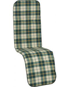 GARDEN SEAT CAPRI - relaxációs párna (170x48x5cm, zöld, kockás)